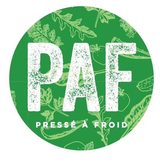 Logo PAF le jus Pressé A Froid